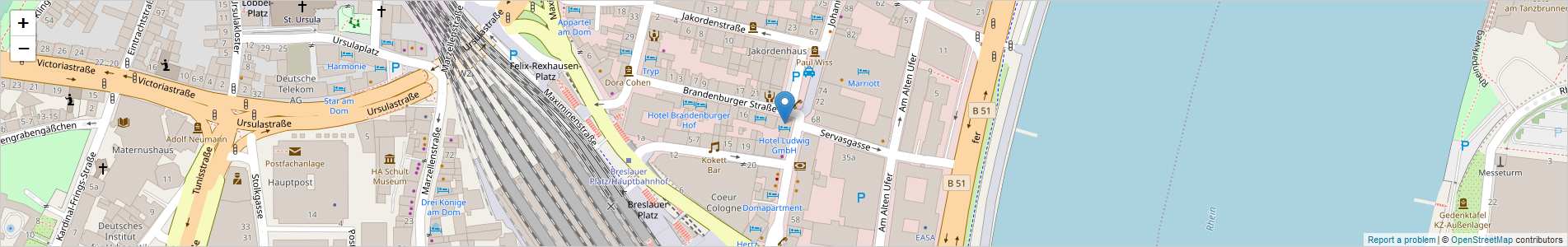 Hotel Ludwig - Location & Parking in Cologne